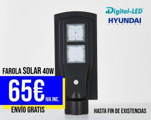 farola led solar 40w