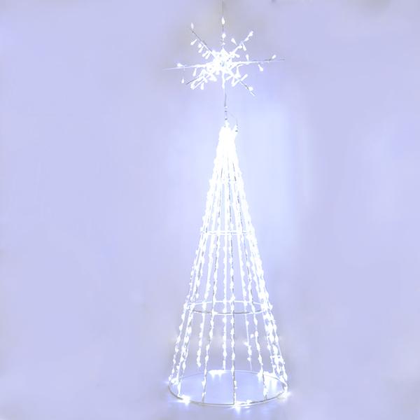 Arbol de navidad led blanco