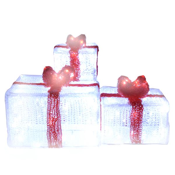 3 juego de cajas regalo de navidad LED
