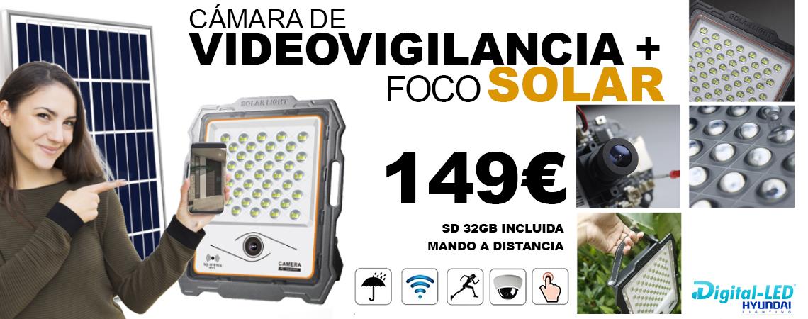 camara wifi con foco solar