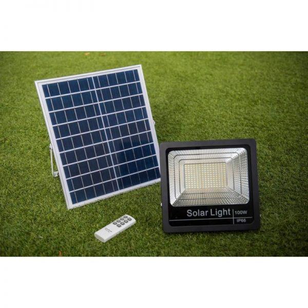 foco solar jardín 100w